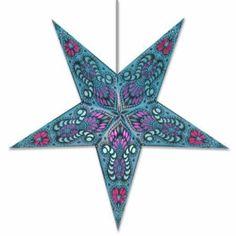 Star Lights - Blue Peacock Paper Star Lamp/Lantern by WHIRLED PLANET, http://www.amazon.com/dp/B00095VG86/ref=cm_sw_r_pi_dp_Xhcyrb0V5BV7R
