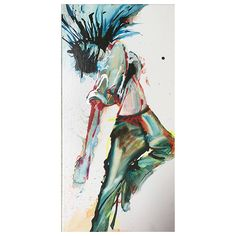 A personal favorite from my Etsy shop https://www.etsy.com/listing/474347798/hip-hop-dancer-drawing-abstract-dance