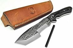 Special Offers - CFK Cutlery Company IPAK Survival USA HAMMERED Custom Handmade D2 Tool Steel Camo Micarta Tracker Hunter Skinner Tactical Bushcraft TANTO Knife with Leather Sheath & Fire-Starter Rod CFK32 - In stock & Free Shipping. You can save more money! Check It (June 28 2016 at 03:30PM)…