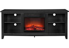 Wyatt Black 58 in. Console with Electric Fireplace x x Find affordable Home Entertainment for your home that will complement the rest of your furniture.