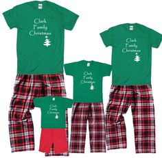 personalized family christmas pajamas Matching Family Christmas Pajamas 49a90fc52