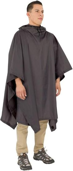 Be prepared for fickle forecasts with the Outdoor Products Multipurpose poncho. Made with polyurethane-coated polyester, this just-in-case layer seals out water and easily stashes in your pack. Available at REI, Satisfaction Guaranteed. Mens Cape, Mens Poncho, Mens Rain Jacket, Rain Pants, Op Logo, Rain Poncho, Hippie Life, Flower Photography, Photography Ideas
