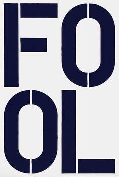 Christopher Wool, Blue Fool (1990): Guggenheim Nov '13
