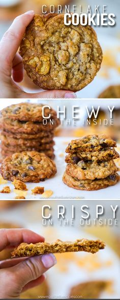The BEST Chewy Cornflake Cookies recipe #recipe #cookies #dessert