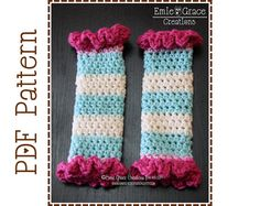 Leg Warmer Crochet Pattern - SINGLE RUFFLE - 707