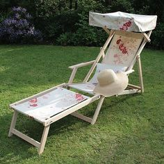 Kate Forman 'Roses' Edwardian Deckchair