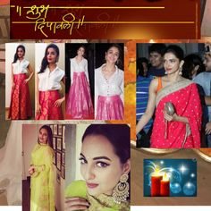 You must be excited about the Diwali Party and also worried about your Look for the tonight party.Get some ideas from the Top 10 Diwali Look. Diwali Party, Sequin Skirt, Sequins, Sari, Skirts, Tops, Fashion, Saree, Moda