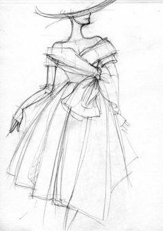 croquis de mode haute couture - Recherche Google