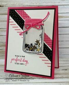 Border Buddy Saturday Jar of Love Shaker Card