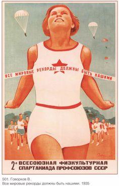 Lenin Stalin Propaganda poster Soviet art Old by SovietPoster