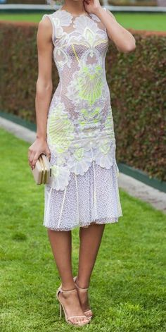 I really like the idea of that accent color, but I'm not sure if I'd wear it. Ladylike Lace Pieces for Your Summer Wardrobe