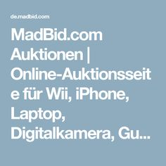 MadBid.com Auktionen | Online-Auktionsseite für Wii, iPhone, Laptop, Digitalkamera, Gutscheine, LCD-Fernseher, Parfum, Auto, Netbook, Handy, MP3-Player, pay-to-bid