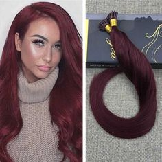 Ugeat 100% Real Human Hair Pre Bonded I tip Keratin Fusion Hair Extensions