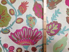 Stoff Blumen - 22 Barcelona Blumen Jacquard Polster Stoff - ein Designerstück von LeSabra bei DaWanda