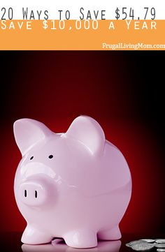 20 Ways to Save $54.79! (Enought to Save $10,000 a Year)