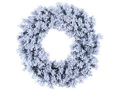 30 Flocked  Glittered Chestnut Jubilee Pine Artificial Christmas Wreath Unlit * Find out more about the great product at the image link.
