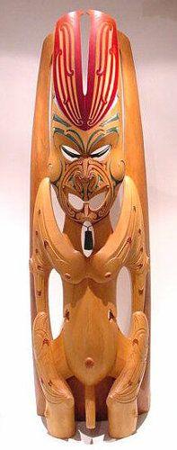 Ruatepupuke • Originator of Carving by Roi Toia, Māori artist (KX30643)