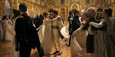 Another lovely ballroom, more period-correct, from a TV series War & Peace