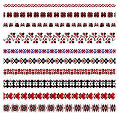 Ukrainian embroidery ornament vector image on VectorStock Hardanger Embroidery, Learn Embroidery, Cross Stitch Embroidery, Embroidery Patterns, Hand Embroidery, Cross Stitch Borders, Cross Stitch Designs, Cross Stitch Patterns, Palestinian Embroidery