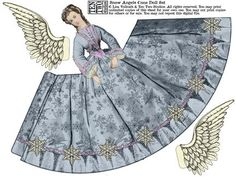products & classes from artist lisa vollrath Victorian Paper Dolls, Vintage Paper Dolls, Antique Dolls, Paper Puppets, Paper Toys, Paper Art, Paper Crafts, Foam Crafts, Paper Angel
