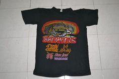 Vintage 1986 MONSTERS of ROCK SCORPIONS Ozzy Osbourne Def Leppard Bon Jovi Concert Tour rare 90s T-shirt T shirt by OldSchoolZone on Etsy