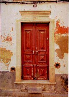 a red vintage door, will suit me.