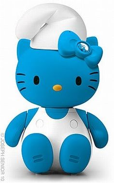 Hello Kitty Meets Smurfette… Two Of My Favorite Childhood Characters! Hello Kitty Meets Smurfette… Two Of My Favorite Childhood Characters! Sanrio Hello Kitty, Chat Hello Kitty, Hello Kitty Items, Hello Kitty Characters, Sanrio Characters, Fun Crafts, Diy And Crafts, My Melody Sanrio, Childhood Characters