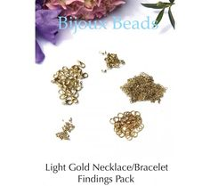 Light Gold Necklace/Bracelet Findings Kit