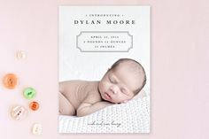 Classic Storybook Birth Announcements by Stacey Meacham at minted.com