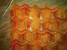 Hermoso punto: variante del zig zag al crochet | Crochet y dos agujas