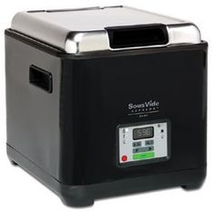 Sous-vide is a method of cooking food sealed in airtight plastic bags in a water bath for a long time—72 hours is not unusual—at an accurately determined temperature much lower than normally used for cooking, typically around 60 °C or 140 °F. The intention is to cook the item evenly, not overcook the outside while still keeping the inside at the same 'doneness' and to keep the food juicier.