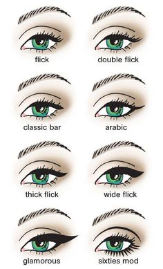 eyeliner shapes visual guide