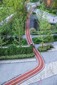 Landscape Plane, Landscape Stairs, Landscape Architecture Drawing, Architecture Graphics, Urban Landscape, Landscape Design, Sport Park, Street Painting, Entrance Design