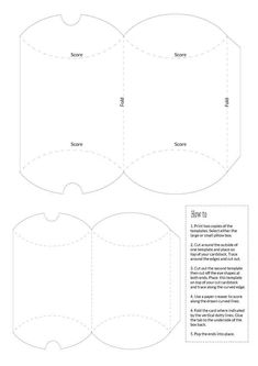 Make a versatile pillow gift box with our free pdf template pillow box templates large and small pronofoot35fo Images