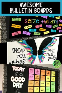 These bulletin board design are awesome! Each one is motivational and brightens up the hallway. The kits include everything you need to create an eye-catching board. Great inspiration for classroom decor ideas for back to school. rnrnSource by September Bulletin Boards, Bulletin Board Design, Counseling Bulletin Boards, Elementary Bulletin Boards, Summer Bulletin Boards, Teacher Bulletin Boards, Back To School Bulletin Boards, Classroom Board, Middle School Classroom