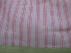 NEW Pink Lime Green PinStripe Full Bed Skirt bedskirt dust ruffle pinstripe pin #CompanyStore