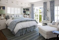breezy blue and white bedroom