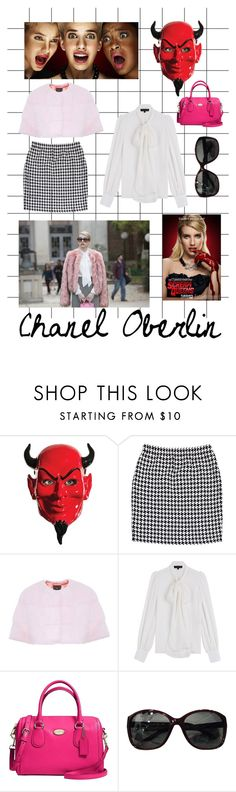 """Chanel Oberlin scream queens"" by stella-19 ❤ liked on Polyvore featuring Chanel, St. John, Lilly e Violetta, Barbara Bui and Coach"
