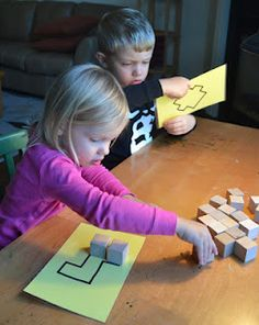 shapes to fill with blocks~estimating, spatial reasoning, problem solving