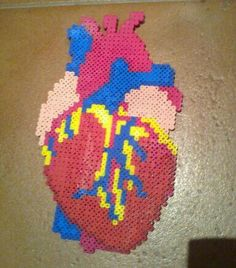 Heart fuse bead... Slightly creepy but cool.