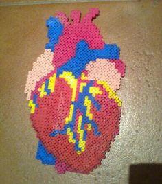 Heart fuse bead... Slightly creepy but cool.