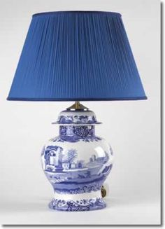 Spode Blue Italian lamp and shade