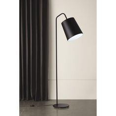 1034 Evora Gloss Black Contemporary Floor Lamp