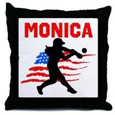 SOFTBALL STAR Throw Pillow These awesome softball player pillows make a terrific gift for birthdays, holidays and any occasion. http://www.cafepress.com/sportsstar/13303627 #Softball #Lovesoftball #Sofballgift #Personalizedsoftball #Softballpillows