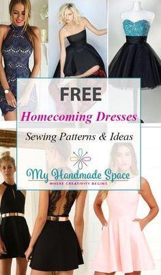 FREE Homecoming Dressess Sewing Patterns