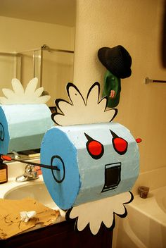 1000 images about halloween decor costumes on pinterest for Robotic halloween decorations