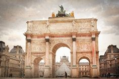"Gateway to the Louvre in Paris France 8""X12"" photograph. $28.00"