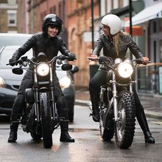 The first motorcycle race began when the second motorcycle was built.  @LilaLush & @SusieLodge going to the @Belstaff presentation.  #BikeStyleStory #BeautyofPower #FashionWeek #Womenwhoride #Hedon