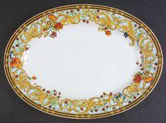 "Versace Le Jardin De Versace 13"" Oval Serving Platter by Rosenthal"