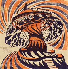 Cyril E. Power, The Merry-Go-Round, about '29-30 (color linocut), found @ 50 Watts